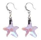 海星水晶耳环