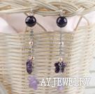 珍珠紫水晶耳环
