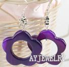 花型玛瑙耳环