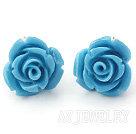 松石玫瑰花耳钉