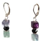 紫莹石耳环