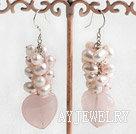 染色珍珠芙蓉石耳环