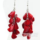 红珊瑚耳环