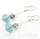 瑞士蓝水晶耳环