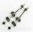 绿边石耳环