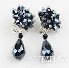 水晶夹式耳环