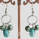 珍珠松石耳环