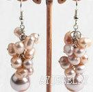 珍珠海贝珠耳环