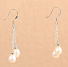 时尚白色珍珠耳环