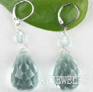 蓝水晶耳环