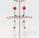 芙蓉石玛瑙珍珠耳环