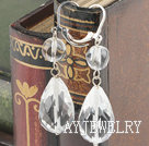 白水晶耳环