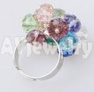 彩色水晶戒指