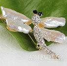 琵琶珍珠蜻蜓胸针