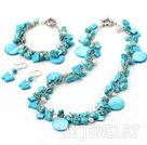 松石珍珠贝壳项链