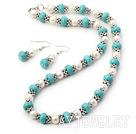 珍珠松石套链