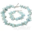 海蓝宝长牙套链