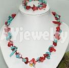 松石珊瑚套链