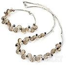珍珠人造水晶套链