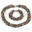 彩色玻璃珠套链