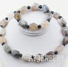 黑珍珠灰玛瑙套链