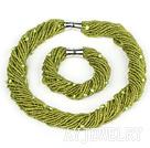 珍珠玻璃珠套链