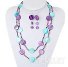 染色水晶贝壳套链