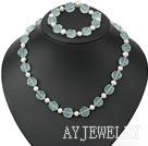 珍珠瑞士蓝水晶套链