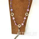 珍珠染色贝壳项链