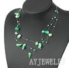 贝壳染色珍珠项链