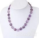 切面紫水晶项链
