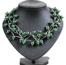 深绿色贝壳珠时尚项链