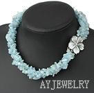 海蓝宝珍珠项链