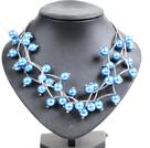 蓝色贝壳珠时尚项链