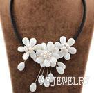 白贝壳白珍珠项链