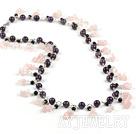 紫水晶芙蓉石项链毛衣链