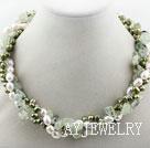 珍珠绿碧柳项链