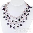 粉晶紫水晶项链毛衣链