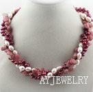 珍珠草莓晶项链