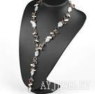 珍珠琉璃Y形项链毛衣链