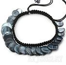 黑贝壳项链