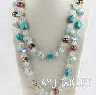 水晶海蓝宝松石项链