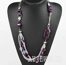 紫玛瑙水晶项链
