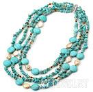 珍珠松石项链 多层款