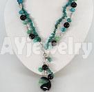 黑玛瑙凤凰石项链