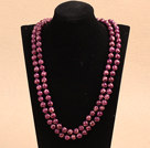 紫红色帝皇石长款项链