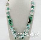 绿玛瑙水晶项链