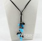 黑玛瑙蓝晶石项链