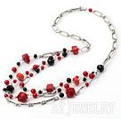 红珊瑚黑玛瑙项链