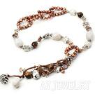 珍珠玛瑙虎石项链
